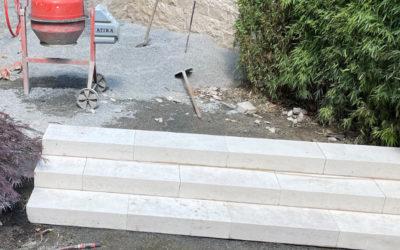 Blockstufen setzen – Außentreppen selber bauen