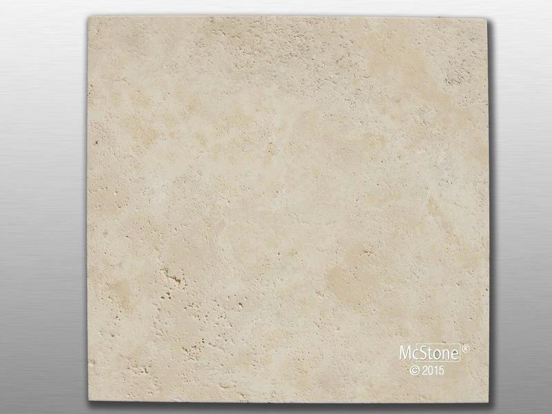 Travertin Beige Light Select gebürstet Fliese 40,6x40,6x1,2 cm