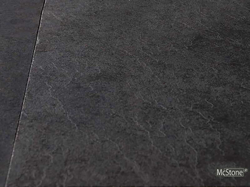 Pure Black Schiefer spaltrau Fliese 60x30x1 cm schwarz