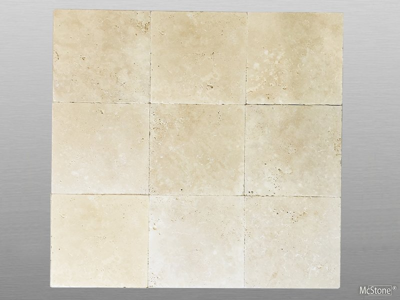 Travertin Beige Light Select getrommelt Fliese 30,5x30,5x1 cm
