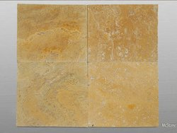 Travertin Yellow (Gold) getrommelt Platte 61x61x3 cm...