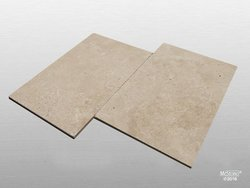 Travertin Beige Select getrommelt Fliese 61x40,6x1,2 cm