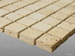 Travertin Beige Light Select getrommelt Mosaik 2,3x2,3x1...