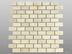 Travertin Beige Light Select getrommelt Mosaik 4,8x2,3x1...