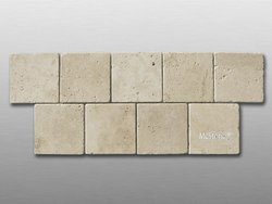 Travertin Beige Select getrommelt Fliese 10x10x1cm
