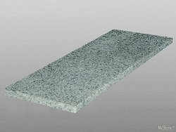 Granit Light Grey G603 geflammt Trittstufe 150x35x3 cm grau
