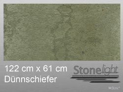 Stone light Dünnschiefer Argento spaltrau 122 cm x 61 cm...