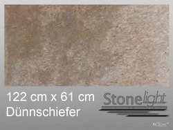 Stone light Dünnschiefer Auro spaltrau 122 cm x 61 cm x...