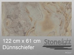 Stone light Dünnschiefer Blanco spaltrau 122 cm x 61 cm x...