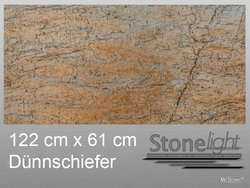 Stone light Dünnschiefer Cobre spaltrau 122 cm x 61 cm x...