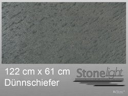 Stone light Dünnschiefer Galaxy Black spaltrau 122 cm x...
