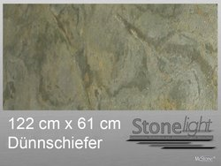 Stone light Dünnschiefer Verde Gris spaltrau 122 cm x 61...