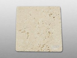 Muster Travertin Beige Select getrommelt 15x15x1,2 cm