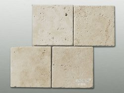 Travertin Beige Select getrommelt Fliese 20x20x1cm