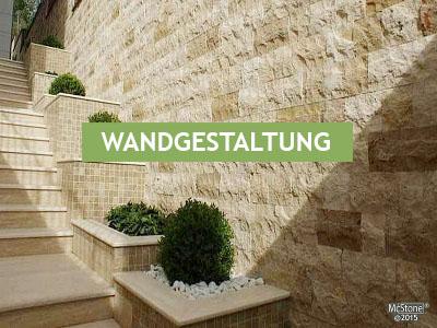 Wandgestaltung mit Naturstein