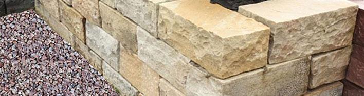 Mauersteine aus Mint Sandstein