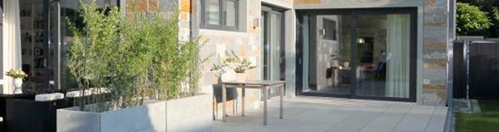 Grau-grüne Dolomit Terrassenplatten